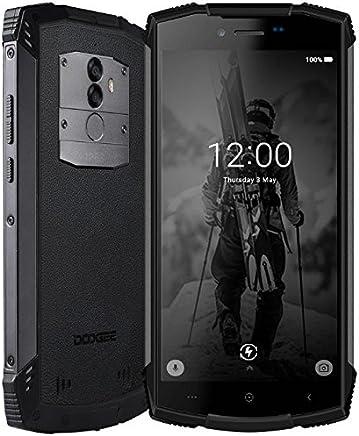 DOOGEE S55-5.5 Pulgadas (relación 18: 9) Android 8.0 Smartphone al Aire Libre, IP68 Impermeable Antipolvo Antigolpes, Carga rápida de la batería 5500mAh, Octa Core 4GB + 64GB - Negro