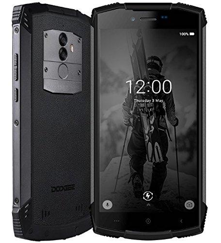 DOOGEE S55 Smartphone da esterno - 5,5 pollici (rapporto 18: 9) Android 8.0, IP68 impermeabile/antipolvere, carica rapida della batteria 5500mAh, Octa Core da 4 GB + 64 GB, Nero (Elettronica)