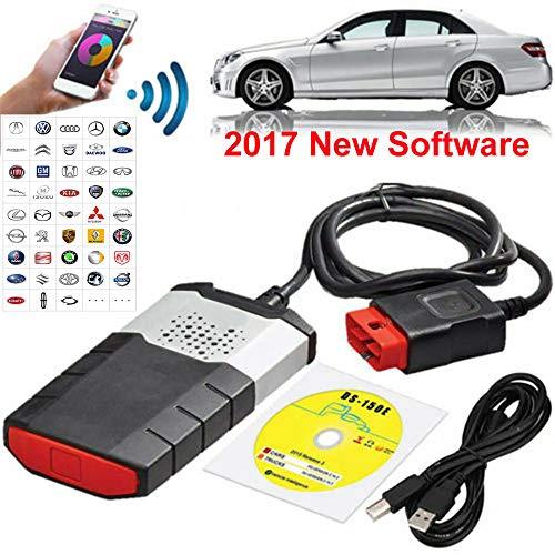 N/A Bluetooth-Auto-LKW-Fehlerdiagnoseinstrument 2017 Edition, Diagnose-Tester Diagnosescanner, DiagnosegeräT Auto OBD,OBD-Ii Ngerung,150E TCS CDP OBD2, FüR PKW Und LKW