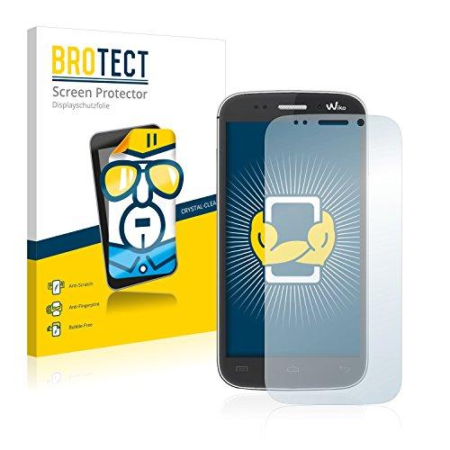 BROTECT Schutzfolie kompatibel mit Wiko Stairway (2 Stück) klare Bildschirmschutz-Folie