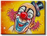 Beautiful Circus Clown Modern Picture on Stretched Canvas, Wall Art Décor, Ready to Hang