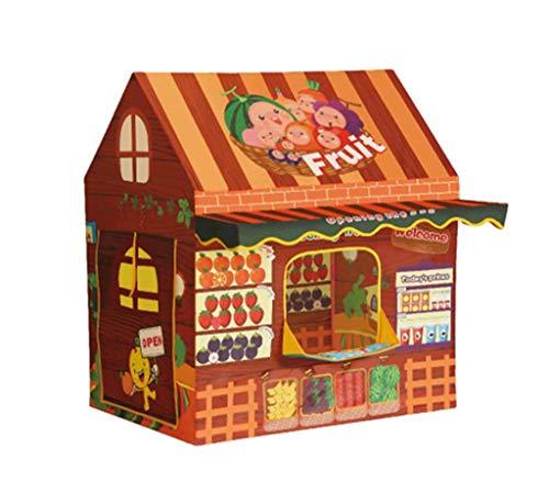Carpa para niños, Carpa de Rompecabezas, Carpa de supermercado para Frutas para niños Casa de Juegos de Juguete Casa de Piscina de Bolas Marinas Bebé Bebé Regalo de cumpleaños 100 * 70 * 110 CM Moda