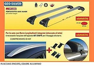 Barre Portatutto Alluminio Hyundai I30 Wagon Dal 2007 />  Con Rails Alti Cm120