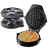 Russell Hobbs Fiesta Macchina per Waffle, Ciambelline e Cupcake, 900 W, Nero, Rosso
