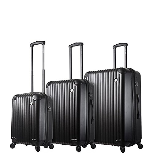 Great Features Of Mia Toro Italy Rotolo Hardside Spinner Luggage 3pc Set, White, One Size