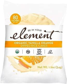 ELEMENT, Rice Cake, Og2, Van, Orange, Pack of 8, Size 1.2 OZ, (Low Carb Gluten Free Kosher Low Sodium Vegan Wheat Free Yeast Free 95%+ Organic)