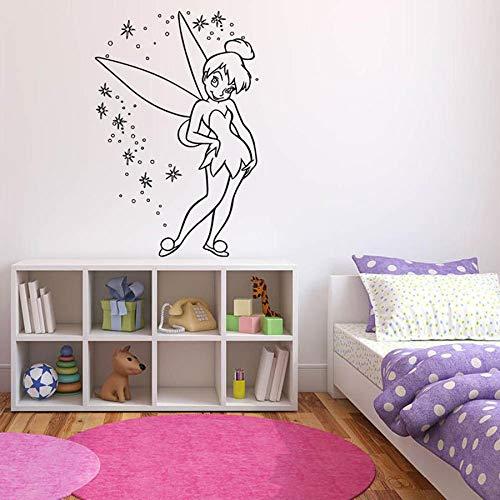 Ala mágica pegatinas de pared dormitorio de los niños cuento de hadas chica linda decoración del hogar jardín de infantes habitación para adolescentes arte de la pared pegatinas de pared de vinilo
