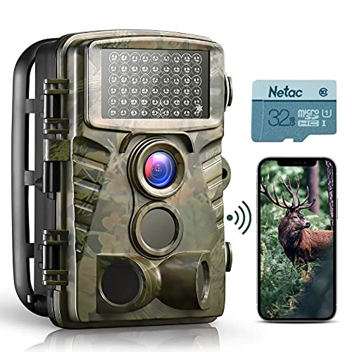 Dsoon WiFi Trail Camera 4K 32MP Hunting Camera with Night Vision 0.2s Motion Activated 120° Detection Game Camera Waterproof IP66 for Wildlife Deer Scouting Monitoring