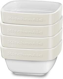 KitchenAid KBLR04RMAC 4 Piece Ceramic Ramekin Bakeware Set, Almond Cream