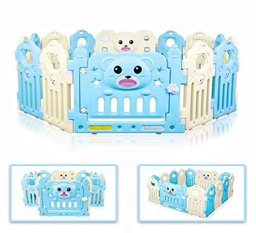 Besrey Parque Infantil 14 Paneles Baby Playpen Centro de actividades para niños, Parque de bebé modulable plegable