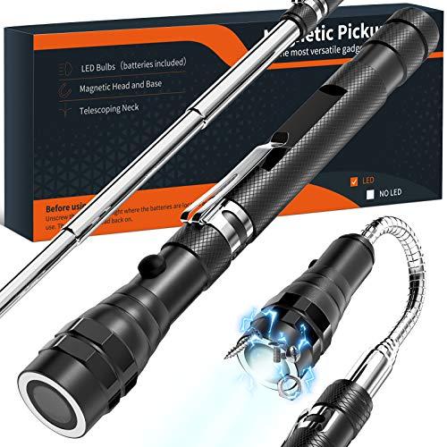 Geschenke für Männer Vatertagsgeschenk Geschenke Geburtstag - Gadgets für Männer Teleskop Magnetheber mit LED, Handwerker Geschenke - Geschenkideen für Männer - Kfz Werkzeug Geschenk - Wichtelgeschenk