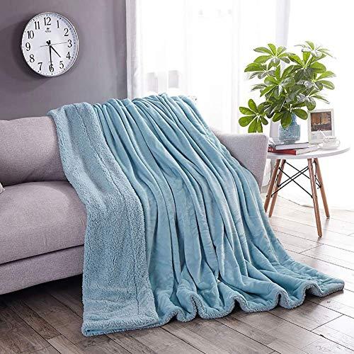 Flanell Samtplüsch Reversible Decke, Kaschmir Decke Tan Sherpa Fleece Decke (Color : Royal Blue, Größe : 100x120CM)