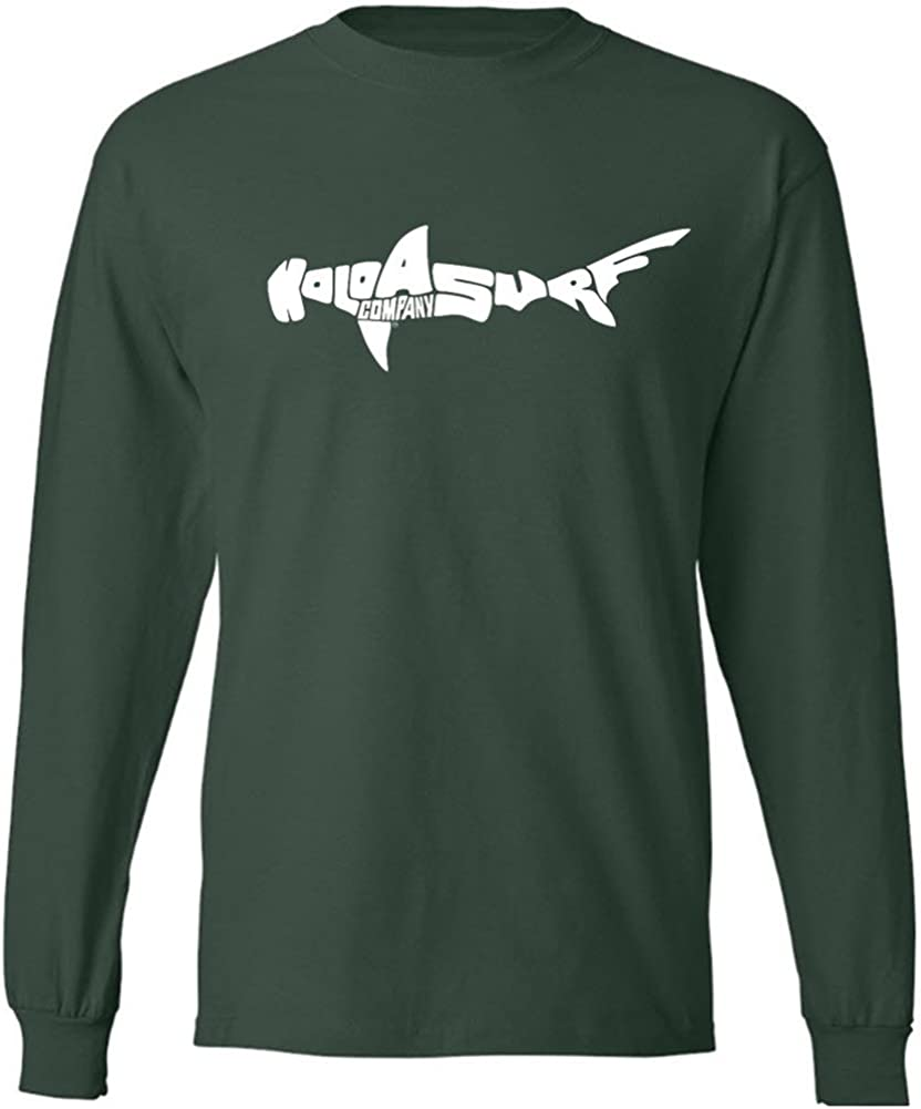 Koloa Surf Shark Logo OFFicial store Long Sleeve Heavy Cheap SALE Start in Cotton Regul T-Shirts