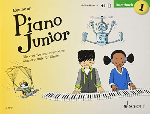 Piano Junior: Duettbuch 1: Die kreative und interaktive Klavierschule für Kinder. Band 1. Klavier 4-händig. Ausgabe mit verschiedenen Online-Materialien. (Piano Junior - deutsche Ausgabe)