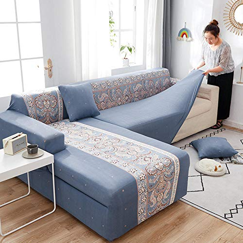 Fsogasilttlv Cubre Antideslizante 1 Plaza, Funda de sofá Funda de sofá elástica Silla seccional, Fundas de sillón de Toalla en Forma de L para sofá de Esquina Protect J 90-140cm