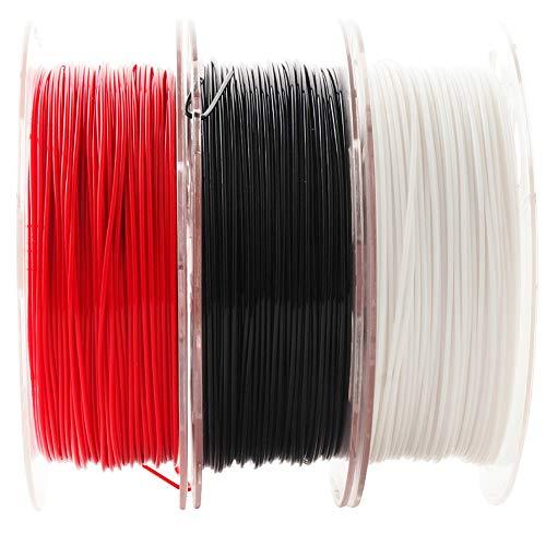 Paquete de Filamentos PLA Oro, Plata y Cobre Sedoso y Brillante, 1.75 mm. / 0.069 pulgadas, filamento de impresora 3D, cada bobina pesa 0.5 Kg, / 1.1 libras, paquete de 3 bobinas