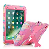 iPad Air 2 Case iPad 6th Generation Case iPad 5th Generation Case Shockproof Case Ultra Slim Lightweight Stand Case for 9.7 inch iPad (Pink)