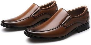 Fanville - Zapatos de piel sintética para hombre, para boda, trabajo, oficina, estilo formal, antideslizantes, clásicos, p...