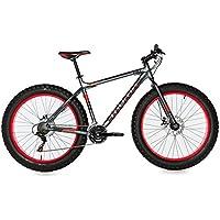 """Moma Bikes Bicicleta Montaña  FAT 26""""Alu, SHIMANO 21V, Doble Freno Disco. (Varias Tallas)"""