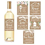 5 Rustic House Warming Presents, New Homeowner Stickers or Wine Label Gift Set Ideas, Congrats Home...