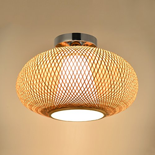 Mode Deckenbeleuchtung- Bambus-Strick-Rattan-Künstliche Strick-Deckenleuchte Innenraum Lampen-WXP