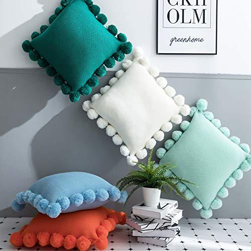 XdiseD9Xsmao 45x45 cm zachte duurzame ruimte kussensloop effen decoratief kussen voor thuis bed sofa ornament decoratie groen