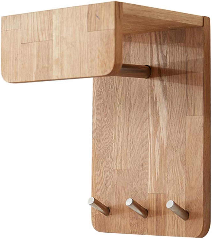 ZHHL Wall Mounted Coat Rack, Modern Minimalist Porch Wall Hanger Oak Wood Coat Hook Coat Rack Clothes Rack