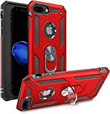 STORM BUY Phone Case Compatible for [ iPhone 8 Plus/iPhone 7 Plus ], Cover with [Shock Absorption] Protection, Kickstand Ring Red Case for iPhone 7/8 Plus, 5.5 inch-KKRD