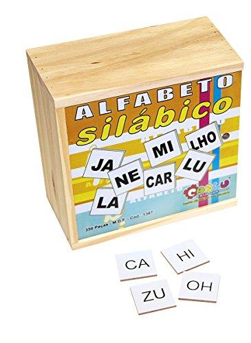 Carlu Brinquedos - Alfabeto Silábico Jogo Educativo, 4+ Anos, 350 Peças, Multicolorido, 1367
