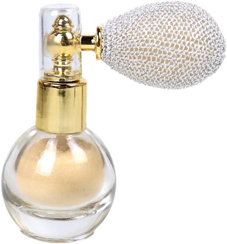 Moligin Polvo Spray Glitter Iluminado Brillo Aroma Resaltador Maquillaje Pigmento Polvo para el Cuerpo del Cuerpo del Cuerpo del Cuerpo del Cuerpo del Cuerpo del Cuerpo de la Cara.