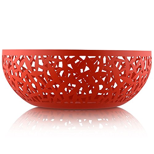 Alessi | Cactus MSA04/29 R - Design Fruit Bowl, Stainless Steel and Thermoplastic Resin