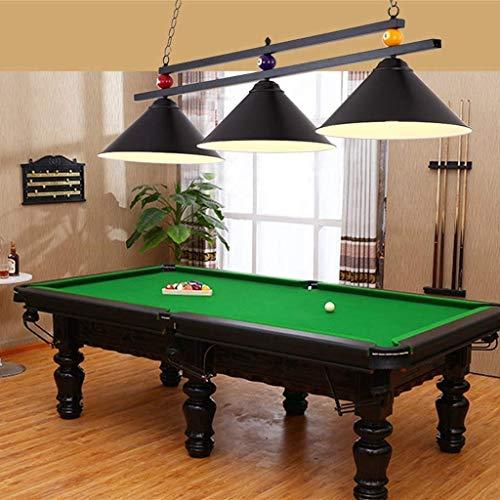 Slow Time Billard Dekor 3 Lichter Kronleuchter für Billard Hall, Tischleuchte LED Restaurant Beleuchtung Billardlichter personalisierte Eisen Snooker Lampen Cafe