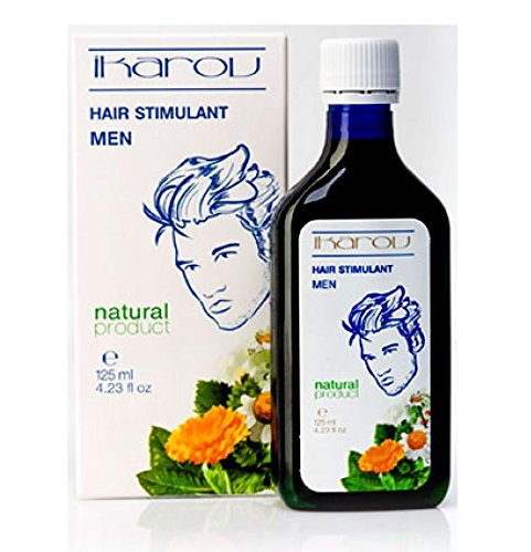 New Product - Men Hair Stimulant for Growth & Strength with Essential Oils - Tobacco Absolute, Rosemary, Lavender, Sage, Vit. PP, Menthol 125ml by Ikarov