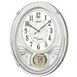 セイコー クロック 掛け時計 電波 アナログ トリプルセレクション メロディ 飾り振り子 白 パール AM258W SEIKO