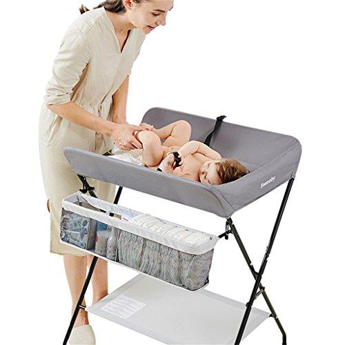 Ali@ Baby veranderen tafel/ijzeren pijp multifunctionele grijs afneembaar met Casters massage tafel afwerkingstafel 0 ~ 3 jaar oude baby inklapbare hoogte verstelbare verpleegbureau luier tafel/Geschikt voor Pe