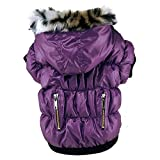 Soly Tech Pet Dog Coat Soft Padded Down Hooded Jacket in Cold Weather Winter Dog Clothes for Small Dogs,Poodle, Mini Pinscher, Shih tzu,Chihuahua