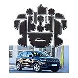 YEE PIN Scanalatura della Porta Tappetino Antiscivolo Compatibile con Jeep Compass 2017-2019 Accessori Interni Automobilistici Scatola di Immagazzinaggio Mat Gomma Morbida