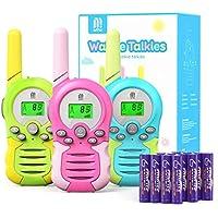 3-Pack Mtm Kids Walkie Talkies with Batteries 2 Way Radio