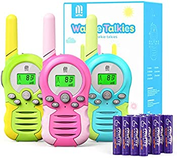 3-Pack Mtm Kids Walkie Talkies