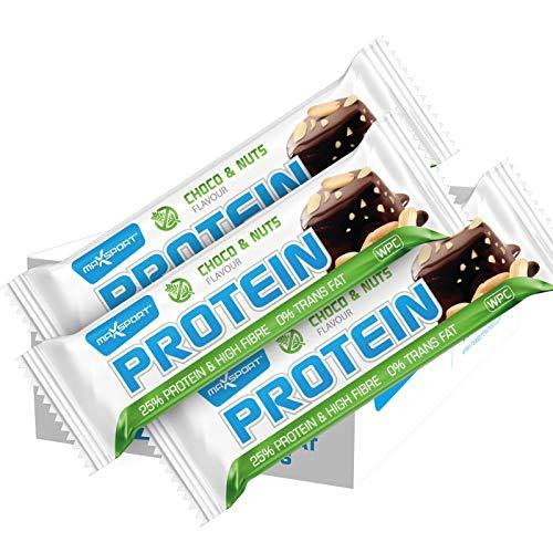 MaxSport Eiwitrepen (Bar Proteïne), 60 g, 24 stuks (24 x 60 g), reservevoer, ideaal voor sportvoeding, suikerarm…