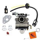 HURI Carburateur et Tuyau Joint Filtre Essence Pour Honda FG100 GX22 GX25 GX31 GX35 4 temps # 16100-ZM5-803 Walbro WYL-19 WYL-19-1