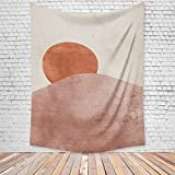 EXGOX Sun Tapestry, The Sun The Moon Vertical Tapestry Wall Hanging Wall Hanging Art Bohemian Tapestries Cotton Linen Tapestry for Room(51.2x59.1 Inches, 130x150 cm)