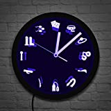 Wall Clock, Adult Shop Business Neon Sign Wall Clock Sex Products Supplies Acrylic Led Edge Lit Mature Sex Erotic Entertainment Wall Clock