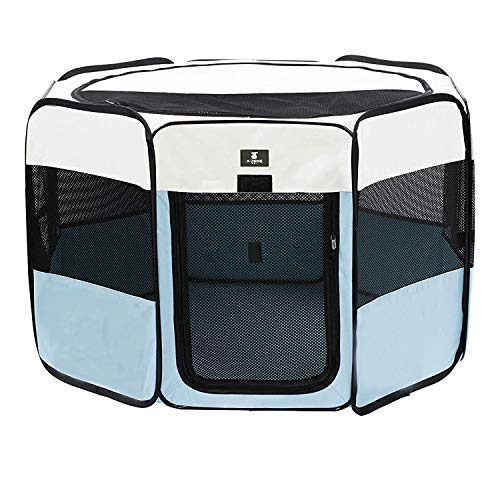 X-ZONE PET Portable Foldable Pet Dog Cat Playpen Crates Kennel/Premium 600D Oxford Cloth,Removable...