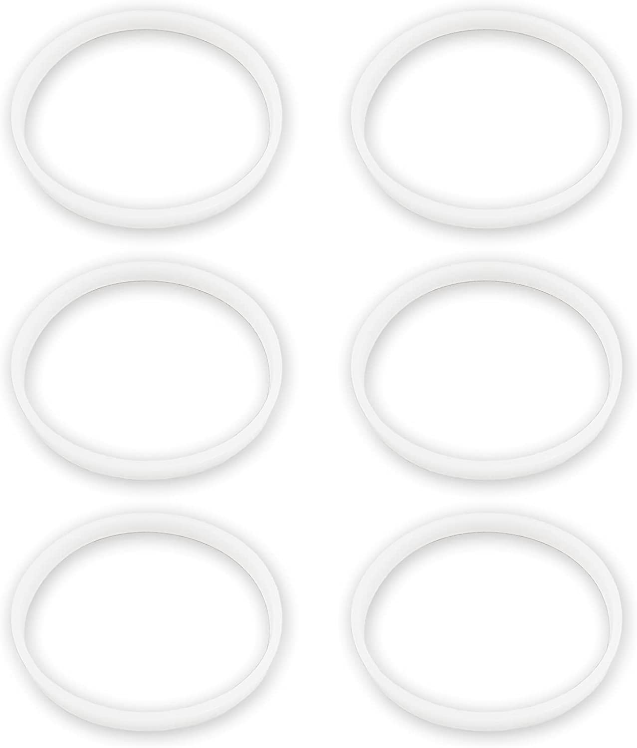 6 Pack Rubber Gaskets Replacement Seal White O-Ring For Nutri Ninja Blender Replacement Ninja Auto-iQ Pro Extractor CT680 BL451 BL480D BL681A BL682 (3.94 inch Gaskets)