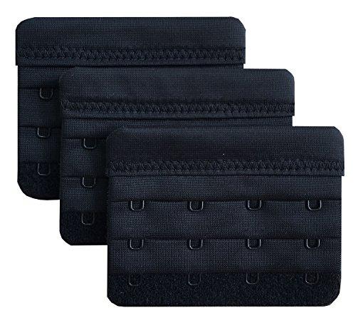 Chanie Damen Packung mit 3 Weich Komfortabel Erweiterung 4 Haken BH-Verlängerer, 5,8cm x 7,6cm