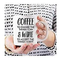 コーヒー引用マグ、面白いワインマグ、彼女のためのワインギフト、面白いオフィスマグ、同僚へのギフト