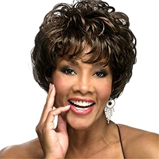 Natural Hairpieces Brown Wig Synthetic Wig Comfortable Black Woman's Short Hair