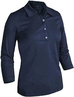 Monterey Club Ladies Dry Swing Floral Emboss 3/4 Sleeve Shirt #2097