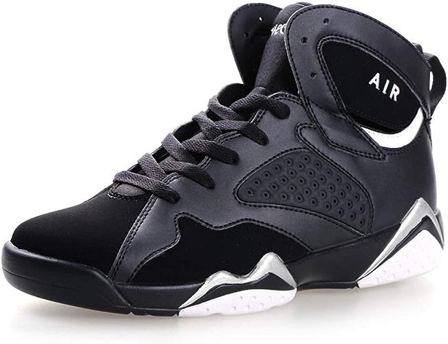 YAN Chaussures de Basket-Ball pour Hommes Chaussures de Sport à Lacets Chaussures de Sport à Lacets Chaussures de Combat antidérapantes Chaussures de Marche décontractées Quotidiennes Nouveau